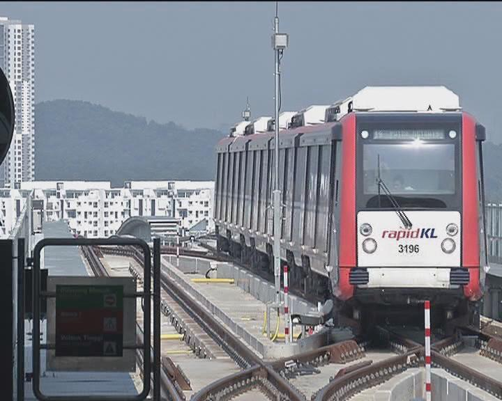 中企助力马来西亚新轻轨线通车