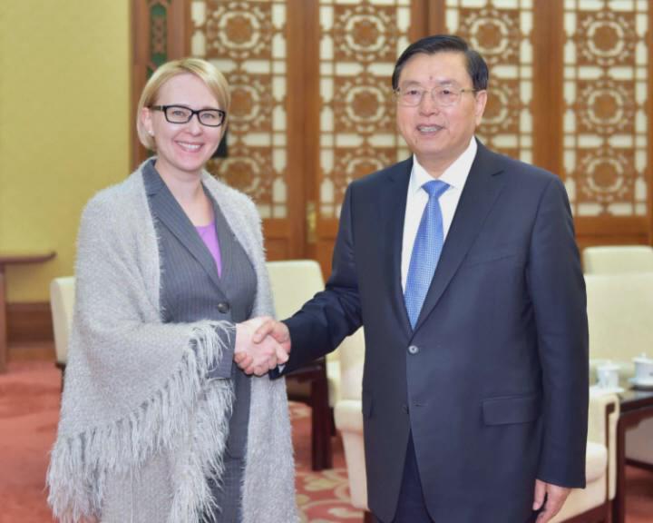 芬兰议长:与中国全国人大交往是增进两国关系的重要渠道
