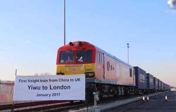 满载义乌小商品的中欧班列首次抵达伦敦