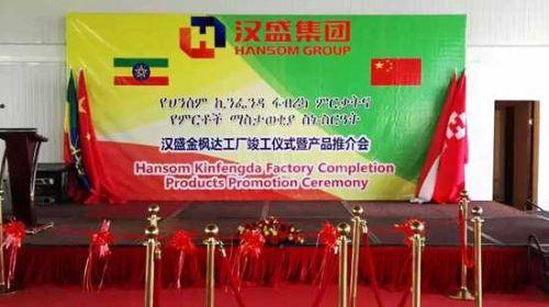 汉盛金枫达管材生产工厂竣工仪式暨产品推介会在埃塞俄比亚东方工业园内成功举办