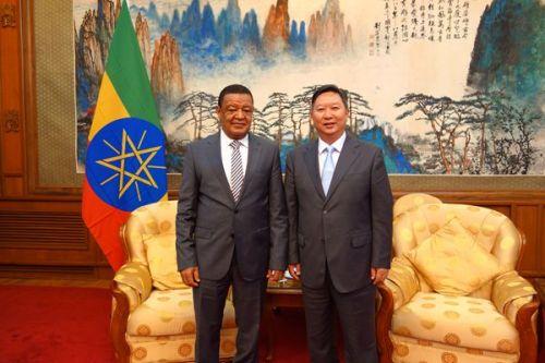 埃塞总统穆拉图接见东方工业园董事长卢其元