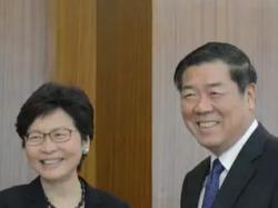 """何立峰会见林郑月娥 双方磋商香港参与""""一带一路""""建设合作协议"""