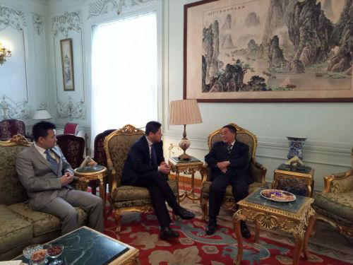 埃及泰达拜访中国驻埃及大使馆