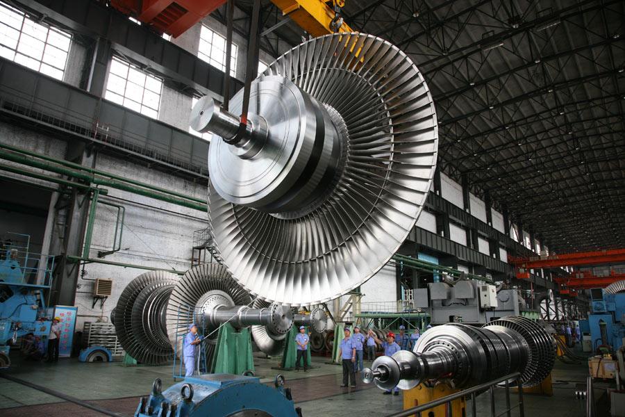 华龙一号CAP1400三代核电汽轮机1800毫米叶片试验转子