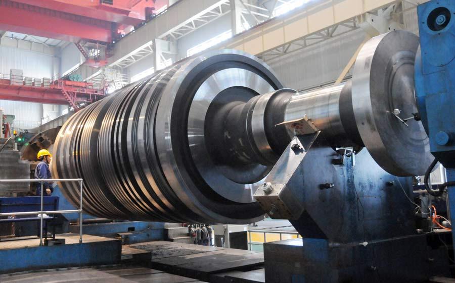 公司首根国产化AP1000核电转子正式开工