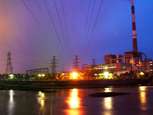 安源电厂夜景