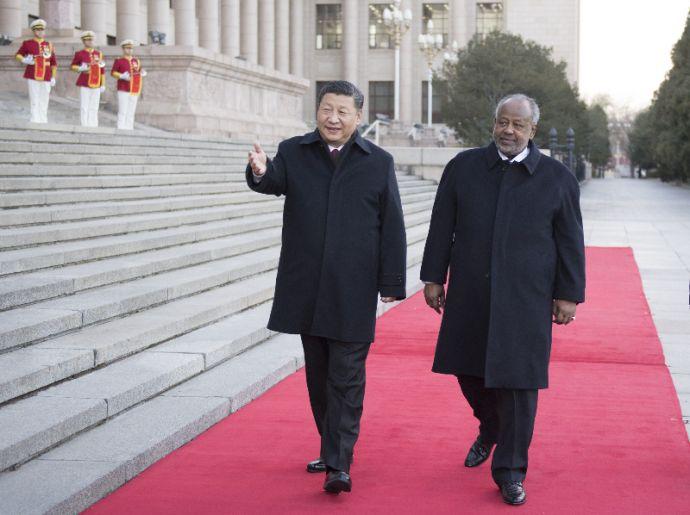 习近平同吉布提总统盖莱举行会谈