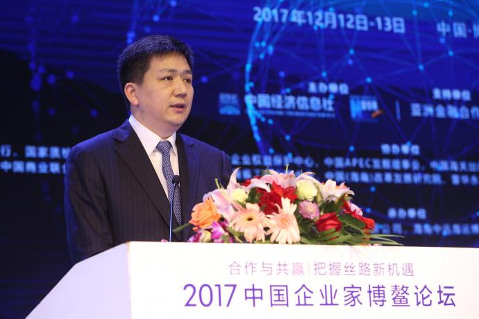 国家质检总局发展研究中心主任付文飙在论坛上做主题发言 新华社王吉如摄