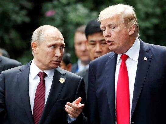 特朗普祝贺普京胜选 探讨加强两国合作
