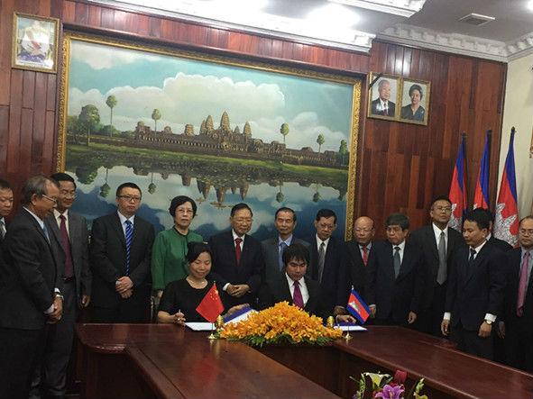 中国援建的柬埔寨桔井大学正式启用