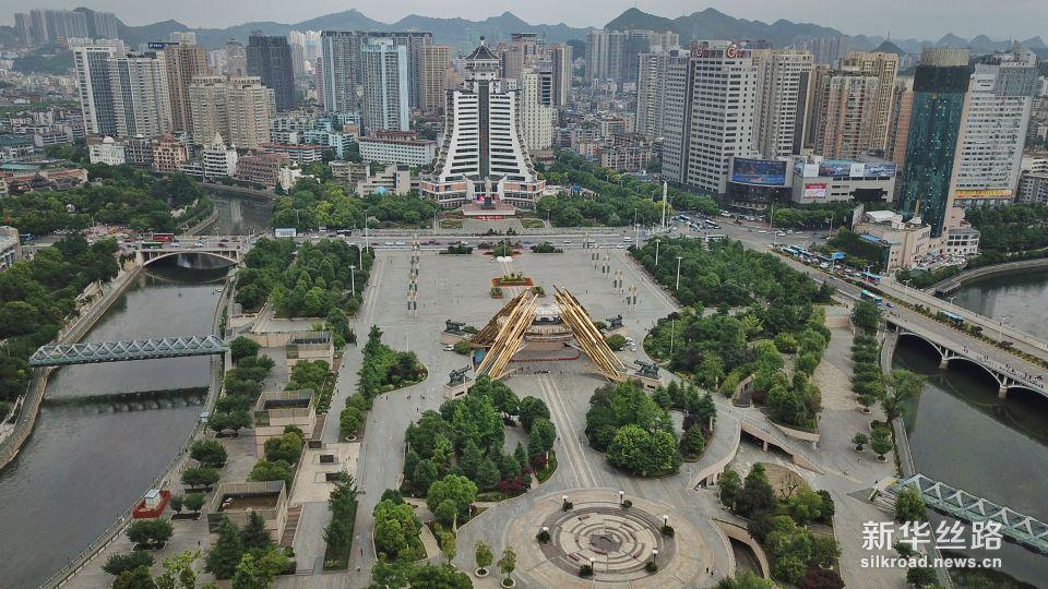 这是贵阳市筑城广场(5月23日无人机拍摄)。新华社记者 欧东衢 摄