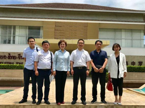 贵州省商务厅代表团莅临泰中罗勇工业园考察