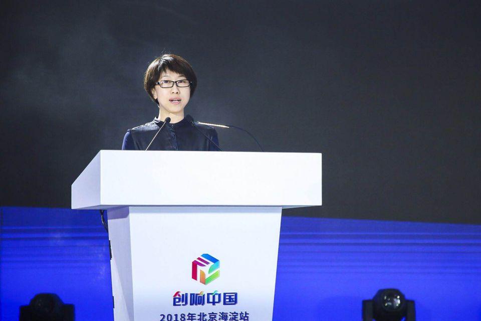 海淀区副区长 李长萍 发布《2017年北京海淀国家双创示范基地发展报告》及《胚芽企业培育计划》