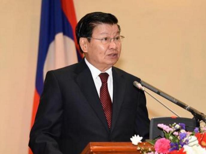 老挝总理通伦指出中老铁路将促进经济发展