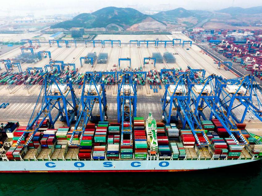 """""""一带一路""""五周年 山东对沿线国家进出口超两万亿"""