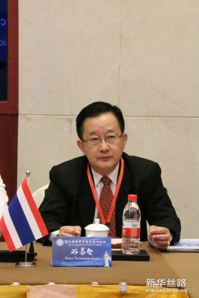 泰国驻华使馆商务公使游慕贤先生就中泰中医药合作发表了讲话。摄影:赵欣
