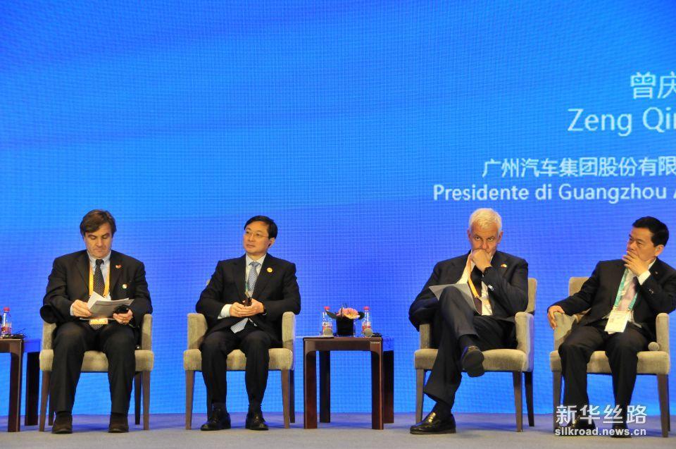 论坛二:科学与技术合作——引领未来的中意高端制造业合作(新华社 王健摄)