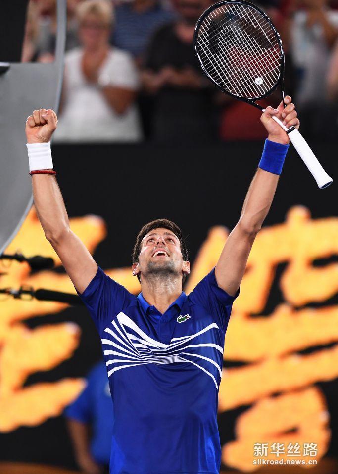 澳网:焦科维奇胜克鲁格。     1月15日,塞尔维亚选手焦科维奇庆祝胜利。    当日,在墨尔本进行的澳大利亚网球公开赛男单首轮比赛中,塞尔维亚选手焦科维奇以3比0战胜美国选手克鲁格,顺利晋级。    新华社/欧新