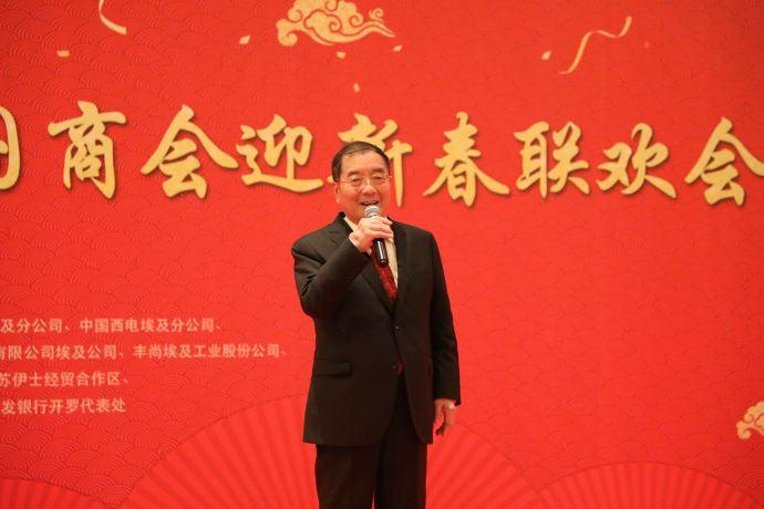 中国驻埃及大使宋爱国在联欢会上致辞