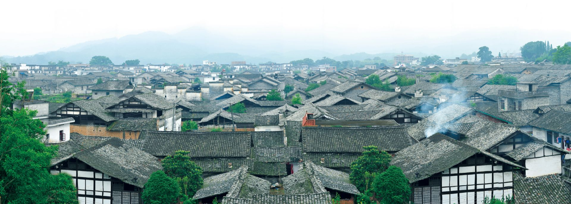 宜丰天宝古村全景 (邹嘉摄)
