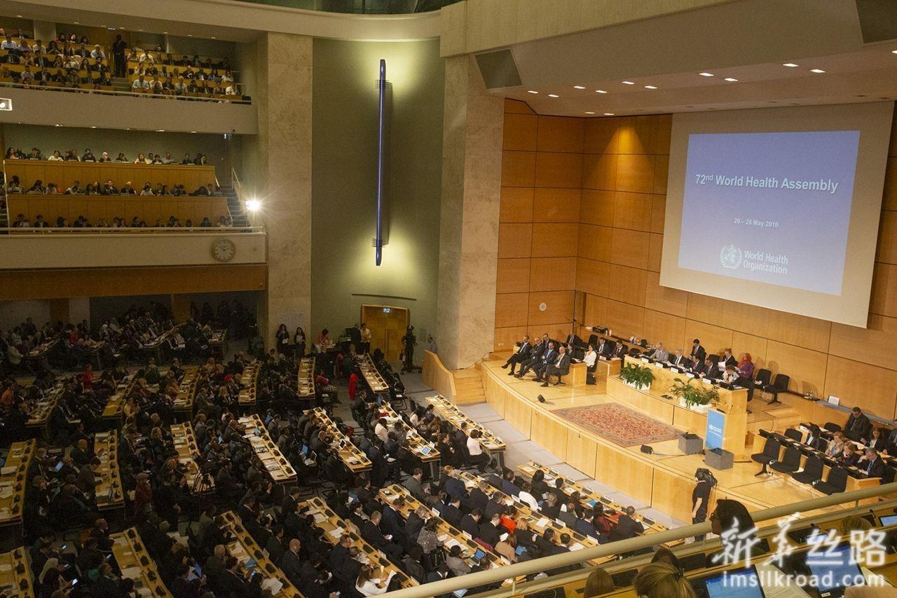 5月20日,在位于瑞士日内瓦的联合国万国宫,与会代表出席世卫大会开幕式。新华社记者 徐金泉 摄