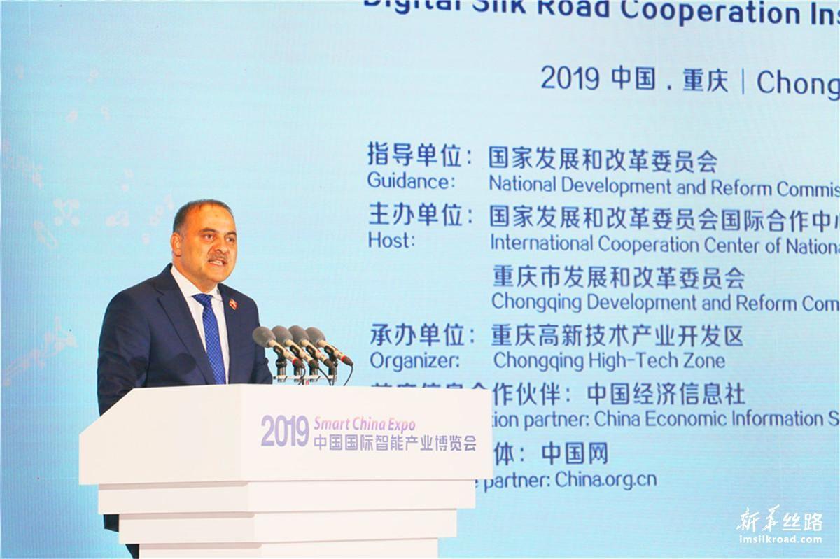 土耳其交通和基础设施部副部长厄梅尔·法提赫·萨扬作主题演讲