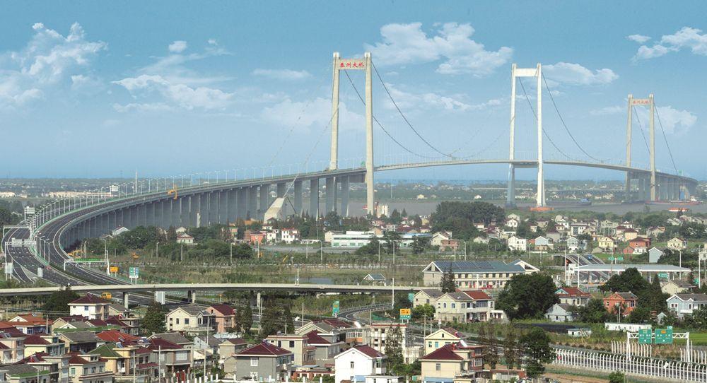 泰州大桥鸟瞰图