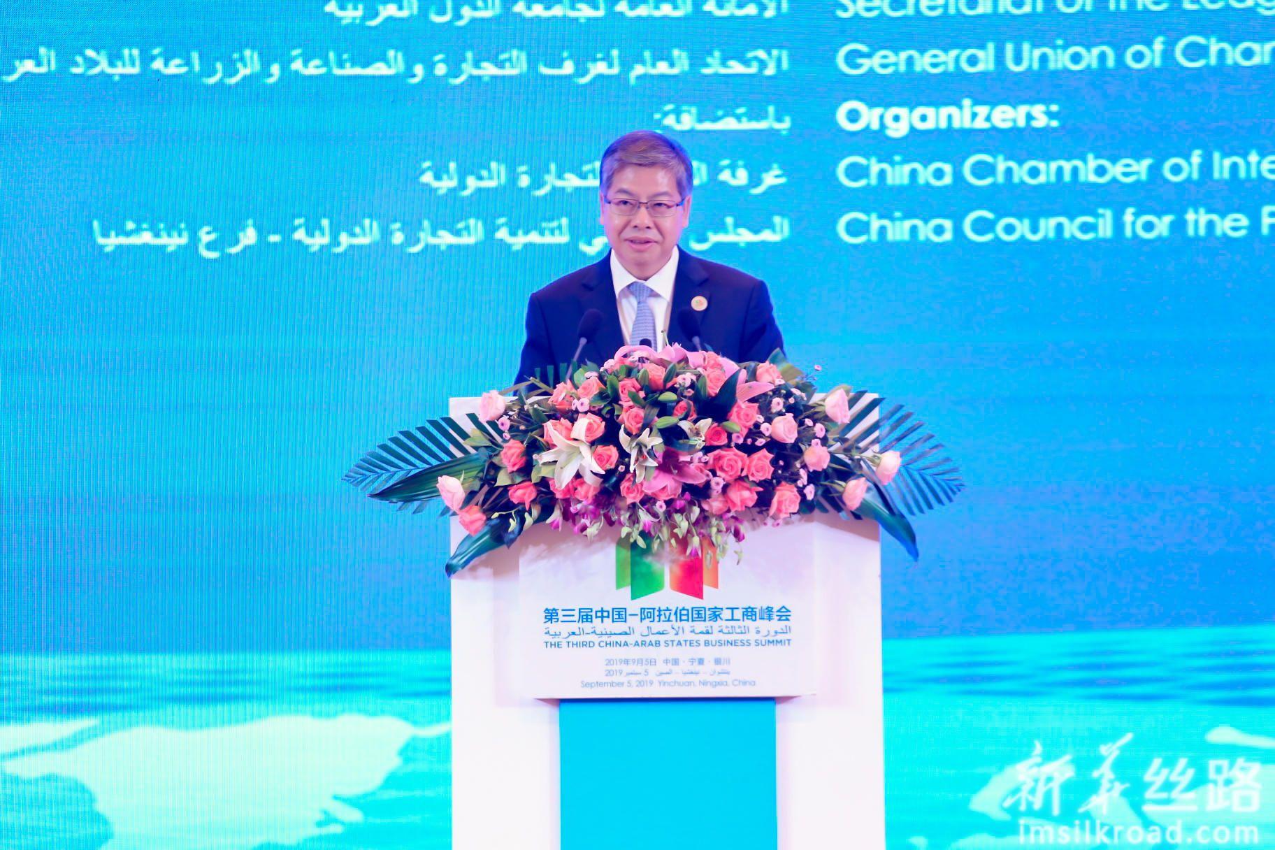 宁夏回族自治区副主席刘可为先生致辞。