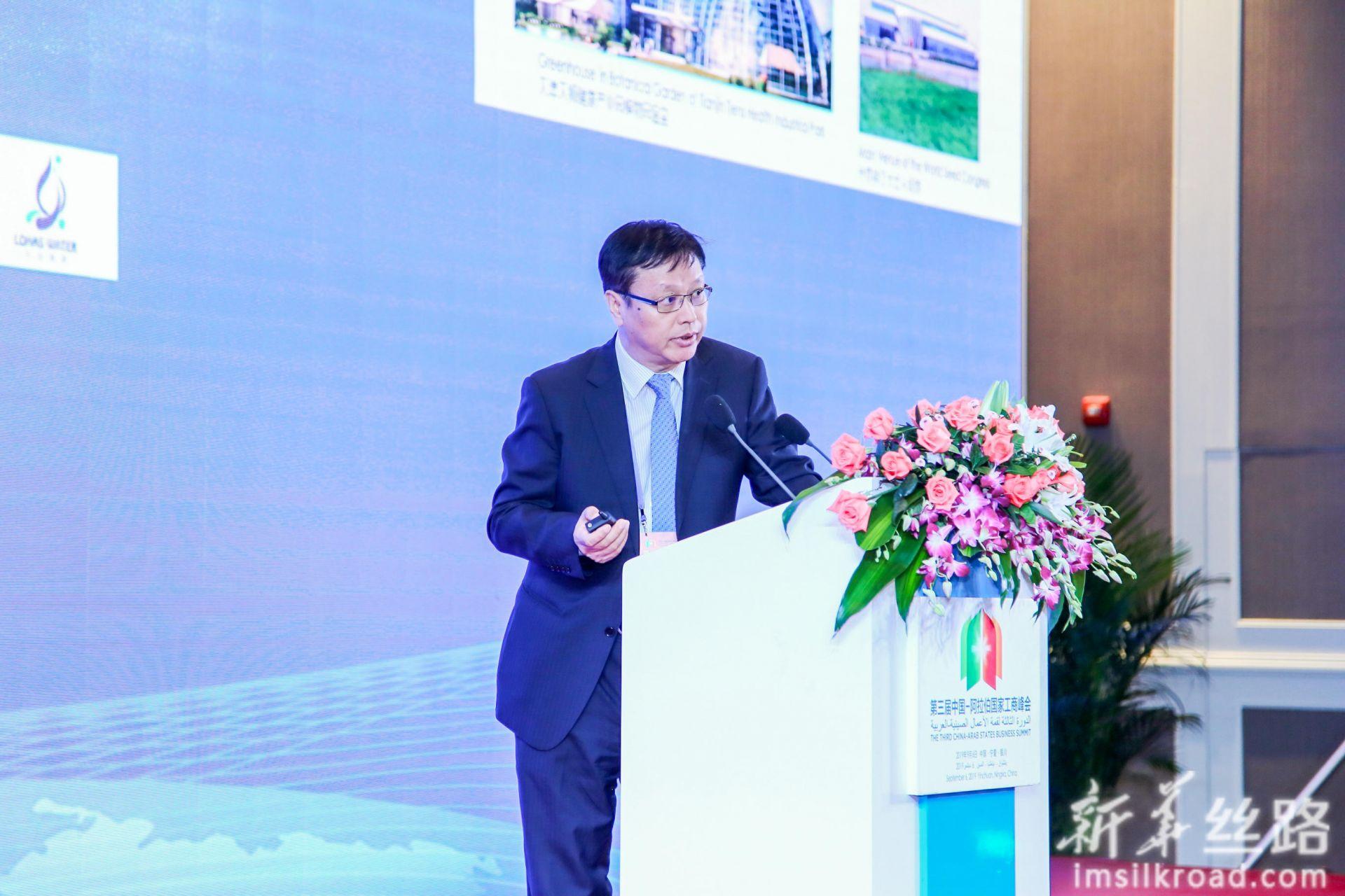 中国航天建设有限公司副总经理李乃宏发言。