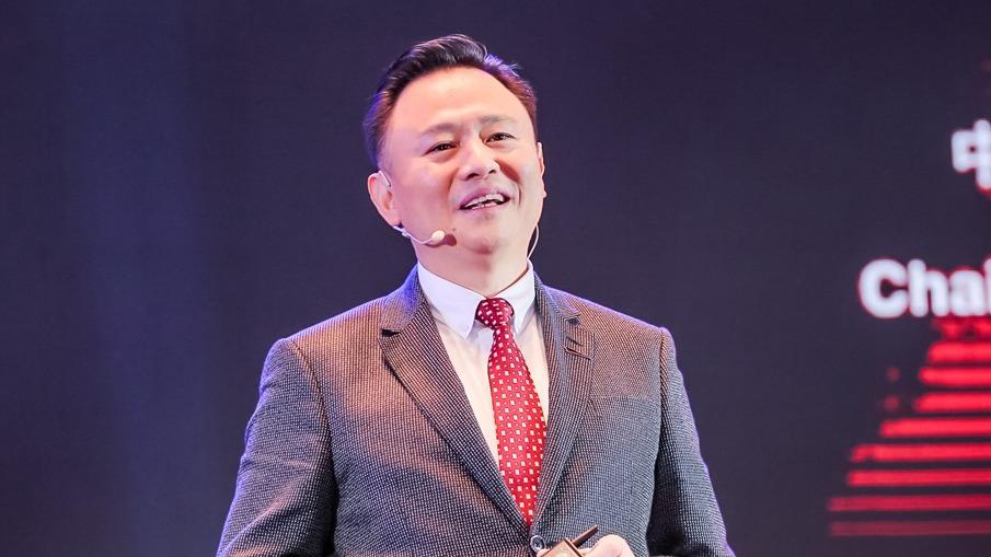 中国第一汽车集团有限公司董事长、党委书记徐留平发表讲话。