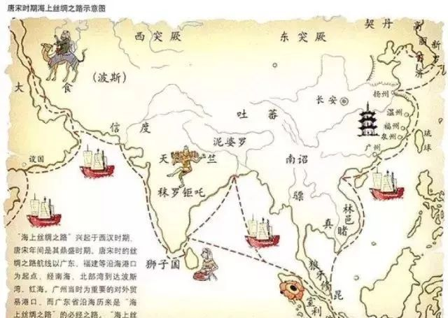 古代海上丝绸之路线路图是什么?