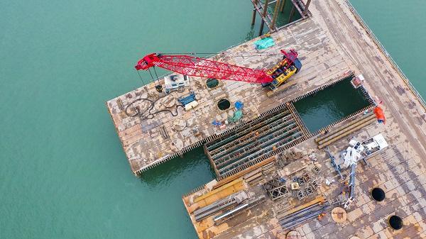蚌埠五河S313淮河特大桥项目精准复工保生产