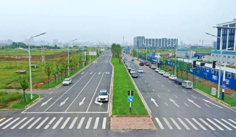 上半年安徽合肥高新区新增及提升市政道路约12公里