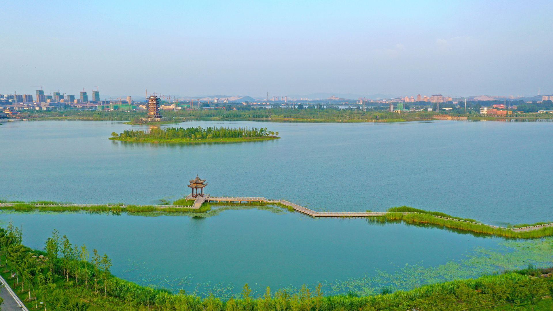 """安徽濉溪:乾隆湖风景区""""十一""""正式迎客"""