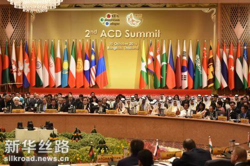 这是10月10日在泰国曼谷拍摄的亚洲合作对话第二次领导人会议现场 记者李芒茫摄