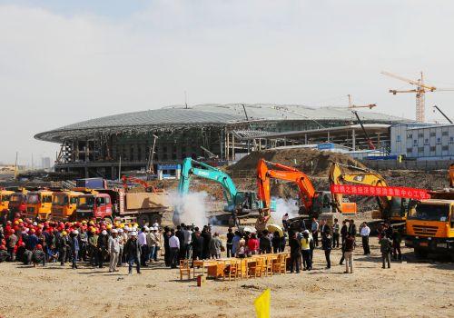 2015.4月30日,丝绸之路经济带旅游集散中心开工现场