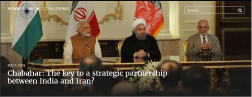 Chabahar The key to a strategic partnership between India and Iran