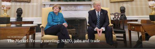 The Merkel-Trump meeting NATO, jobs and trade