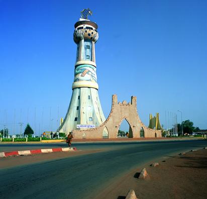 中铁国际集团中海外西非公司承建的马里巴马科非洲塔