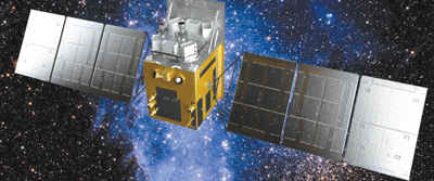 图为硬X射线调制望远镜卫星运行示意图。