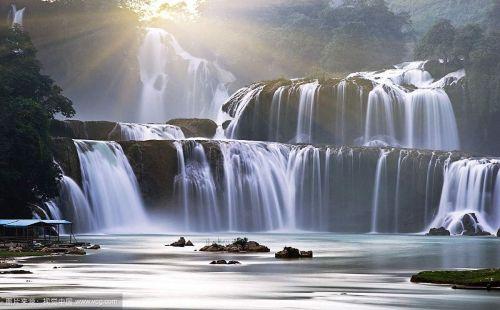 壁纸 风景 旅游 瀑布 山水 桌面 500_310