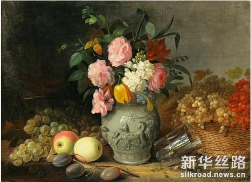 赫鲁茨基作品《花儿和水果》