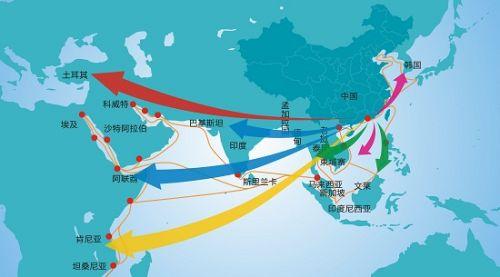 21世纪海上丝绸之路线路图