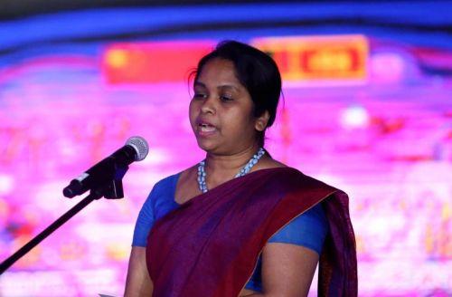 图为斯里兰卡驻华大使馆代表阿瑞雅娃缇