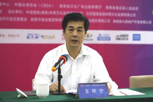 澄迈县副县长王祚宁发言。