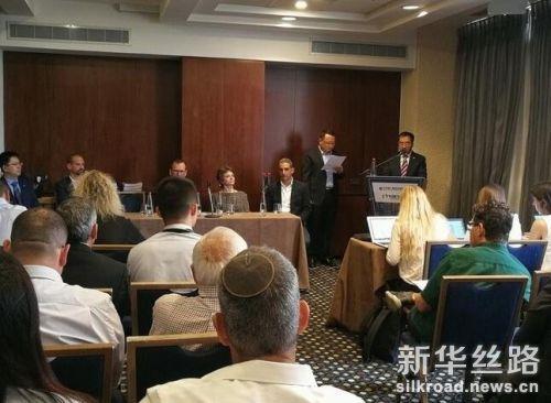 11月13日,北京建工集团副总经理常永春在签字仪式上讲话。新华社记者陈文仙 摄