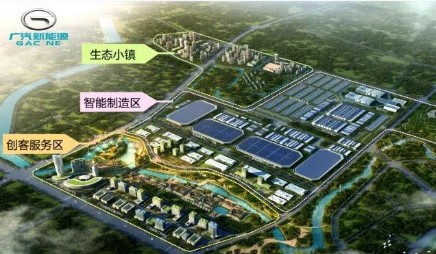 广汽智联新能源产业园鸟瞰图。