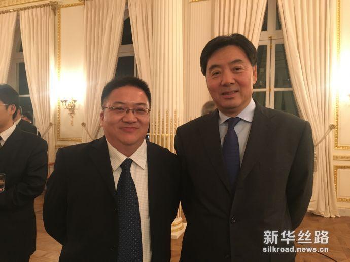 中经社副总裁匡乐成与中国驻法国大使翟隽合影
