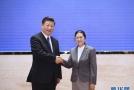 习近平会见老挝国会主席巴妮