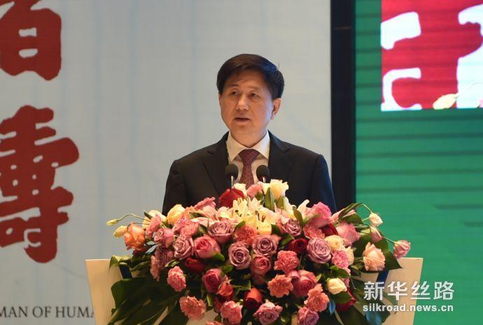 国家旅游局副局长王晓峰致辞(新华社 段晓芸摄)